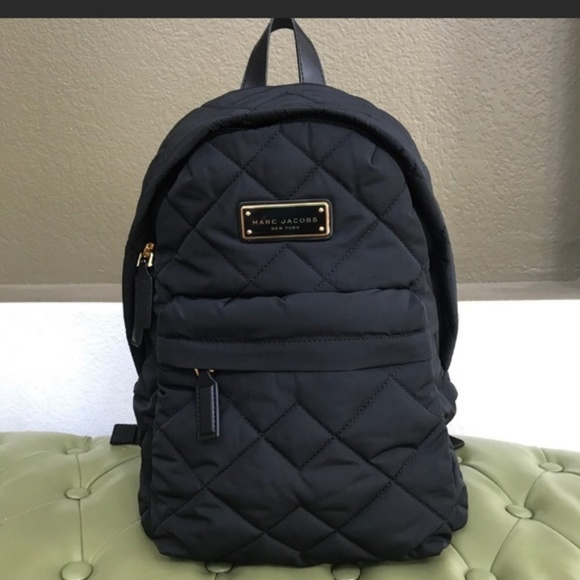 15359b99ee54d Marc Jacobs Black Nylon Quilted Backpack